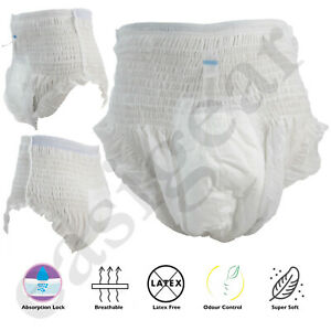 Adult Nappies Incontinence Pull up Pants Diapers 10pcs Medium Large Easigear