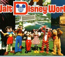 Mickey Pluto Pinocchio Goofy Tigger Walt Disney World Resort FL Vintage Postcard