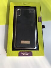 Ted Baker Genuine Back Case Cover Apple iPhone XS Max Black