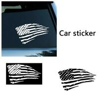 2Pcs Distressed American Flag Decal, sticker, Vinyl, JDM Decal For Car, Truck