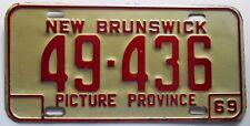 New Brunswick 1969 License Plate NICE QUALITY # 49-436