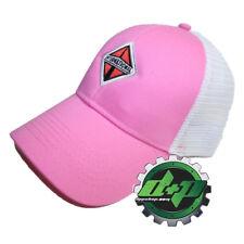 International trucks pink w/ white mesh back hat ball cap truck diesel INT