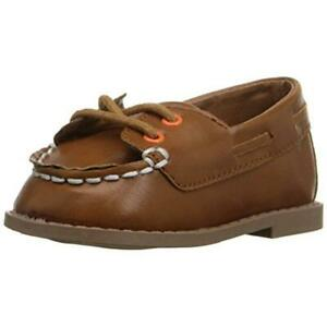 Rugged Bear Brown Oxford Lace Up Boat Shoes 2 Medium (D) Infant  9296