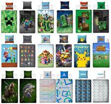 Jungen Bettwäsche Set 2tlg. 135x200 80x80 Baumwolle Game Minecraft Pokemon Mario