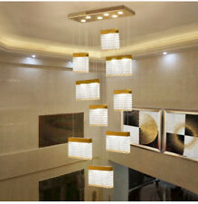 TOP LUXURY led crystal spiral staircase chandelier modern villa living room lamp