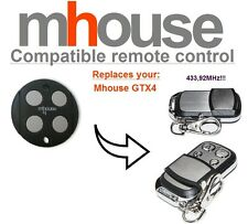 MHouse GTX4 compatible remote control transmitter, 433,92 MHz 4-channel fob