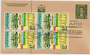 1969, October 20.  Leyte Landing - 25th Anniversary Manila, Philippines Postcard