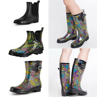 SheSole Fashion Waterproof Rubber Garden Rain Boots for Women Ladies Wellies