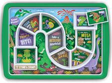Fred DINNER WINNER Dinosaur Food Tray Kids Children's Novelty Fun Dinner Plate
