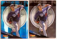 2015 BOWMAN'S BEST JULIO URIAS BLUE REFRACTOR RC SP LOT OF TWO (2) #96/150