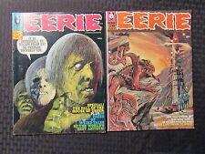 1969 EERIE Warren Horror Magazine #20 VG/FN #28 FN+ LOT of 2 Reed Crandall