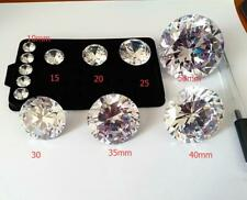 5~50mm Round White loose cz stone cubic zirconia gemstone 57 faces Machine cut