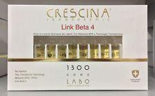 Crescina Transdermic Ricrescita LINK BETA 4 1300 UOMO 20 FIALE LABO !