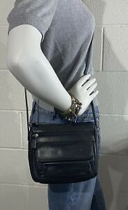 FOSSIL Small Black Leather Crossbody