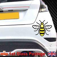 Full Colour Manchester Bee Vinyl Decal Sticker Car, Van, Ford Fiesta Sticker a43