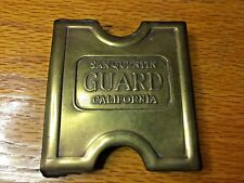 Anson Mills Belt Buckle San Quentin California GUARD Solid Brass