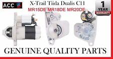 Nissan Starter Motor fit  XTrail Tiida Dualis C11 1.5L 1.8L MR15DE MR18DE MR20DE