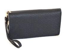 PORTAFOGLIO BORSELLO donna NERO zip oro borsellino da borsa pochette clutch A12
