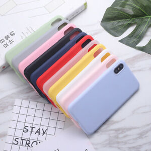 For iPhone 11 XS Max XR 8 7 Plus 6s Ultra Slim Soft Rubber Silicone Case Cover