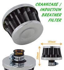UNIVERSAL OIL MINI BREATHER AIR FILTER FUEL CRANKCASE 12MM UN1108-Fits Nissan 2