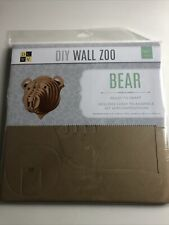 Dcwv Diy Wall Zoo 3D Bear Nursery Wall Decor Safari Wall Art New