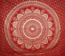 Indian Vintage Red & Gold Ombre Mandala Wall Decor Tapestry Queen Bedding Hippie