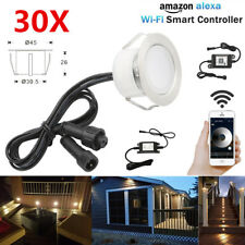 30X WIFI Control Dimmer Timer 45mm Warm White LED Deck Stair Step Soffit Lights