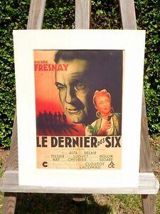 alter Kino Reklame Druck Bild hinter Passepartout Sie waren sechs ! 50x40cm 33