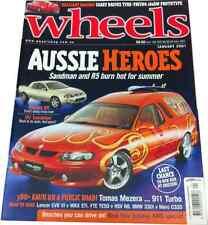WHEELS 2001 Holden Mambo Sandman Panel Van, R5 Ute, EVO v STi, HSV R8 v FTE TE50