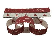 East of India Red Merry Christmas Paper Chains - Great idea for children Crafts