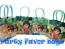 18 pc Go Go Diego Party Favor Bags Candy Treat Birthday Loot Gift Durable Sack
