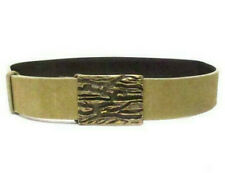 GUCCI Brutalist Gucci  Modernist Belt Khaki Suede Leather Bagle 95727 1192 85 34