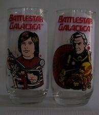 Battlestar Galactica 1979 universal City Studios glasses, set of 2