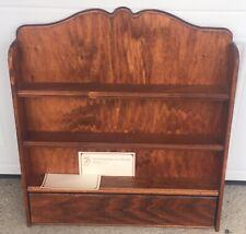 Vintage M J Hummel Spice Jar Wooden Rack~Shelf~Recipe Cards & Knob