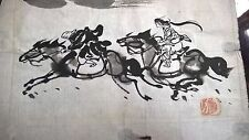 antique small old japanese painting great
