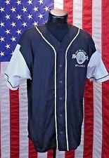 Hard Rock Cafe Orlando Florida Sm/Med USA Black Button Shirt Jersey Baseball Sty