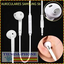 Auriculares con Microfono Para Samsung Jack 3.5 Micro Cascos Blanco Audio Mic