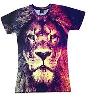 Majestic Lion T-Shirt tie dye acid wash festival safari jungle print printed
