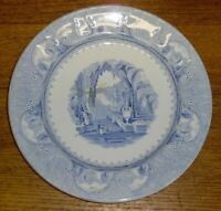 Antique Jacob Furnivals Blue Transfer Plate - Castle Scenery - 10""
