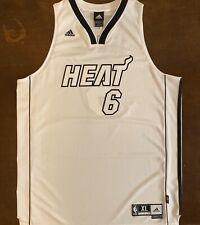 Rare Adidas NBA Miami Heat LeBron James White Hot Basketball Jersey