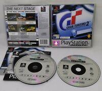 Gran Turismo 2 Sony Playstation 1 2000 Platinum Both Manual Both Discs Good