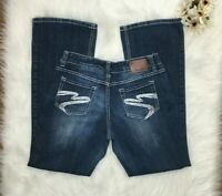 Maurices Juniors Size 5/6 Regular Distressed Jeans Bootcut Blue Womens