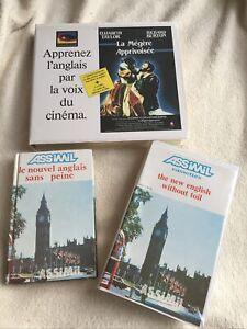 Cassettes Audio Assimil Anglais plus film en anglais de la mégère apprivoisée