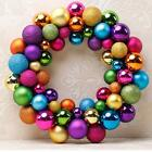 Xmas Gift Christmas 55 Balls Wreath Door Wall Garden Ornament Garland Decoration