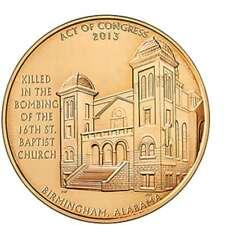 USA MEDAL BU 16th STREET BAPTIST CHURCH BOMBING VICTIMS,ADDIE MAE COLLINS, DENIS