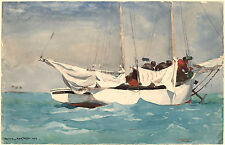 Winslow Homer Watercolor Reproductions: Key West, Hauling Anchor: Fine Art Print
