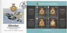 Gibraltar 2012 FDC RAF Squadrons I 4v M/S Cover Royal Air Force Emblems