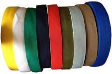 POLYPROPYLENE WEBBING STRAP TAPE CHOICE OF COLOUR WIDTH AND LENGTH