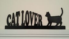 Cat Lover Silhouette - Door/Window Topper Handcrafted/Painted