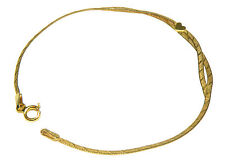 Estate 14K Yellow Gold Heart Herring Bone Bracelet - 7""
